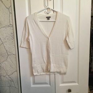 Eddie bauer white cotton short sleeve sweater